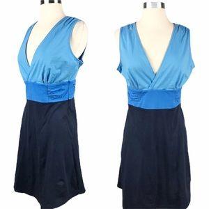 EUC✨PATAGONIA Margot Dress Color Block Navy/Blue M